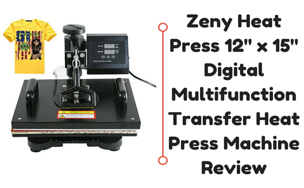 Zeny Heat Press 12″ x 15″ Digital Multifunction Transfer Heat Press