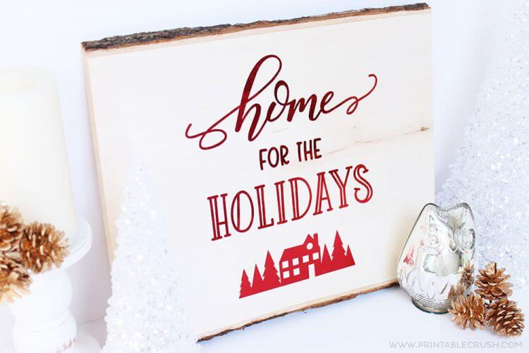 sample of holiday decor using svg files